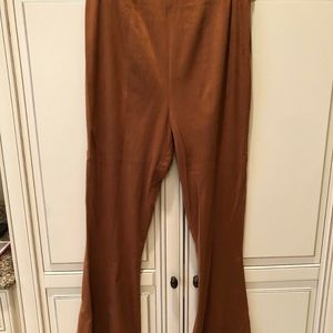 TOBI WOMEN'S HIGH POINTS CAMEL FAUX SUEDE PANTS